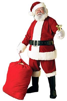 Santa Deluxe Velvet Adult Costume