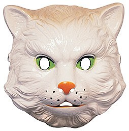 Plastic White Cat Mask