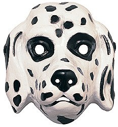 Dalmation Dog Plastic Mask
