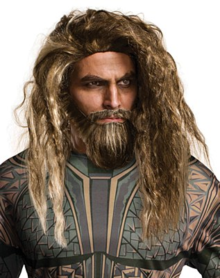 Aquaman Justice League Wig And Beard Set