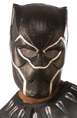 Black Panther Plastic Adult Mask