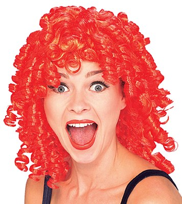 Curly Top Red Clown Wig