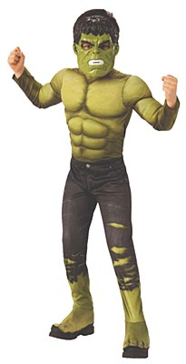 Avengers Infinity War Hulk Deluxe Muscle Child Costume