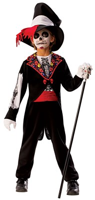 Day Of The Dead Boy Child Costume