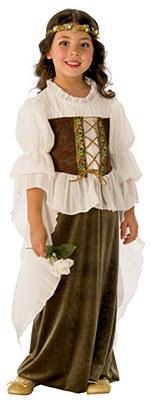 Woodland Peasant Girl Child Costume