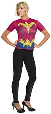 Wonder Woman Adult T-Shirt And Tiara Set