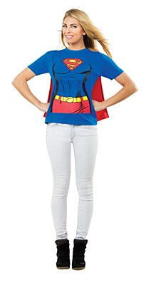 Superman Supergirl Adult T-Shirt