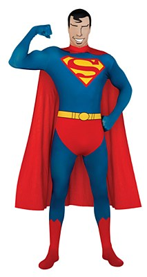 Superman 2nd Skin Morphsuit Adult Costume