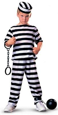 Prisoner Jail Boy Child Costume