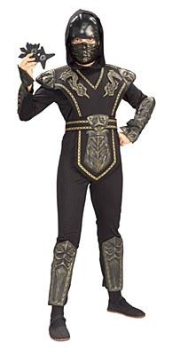 Gold Dragon Warrior Ninja Deluxe Child Costume