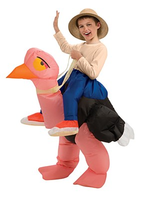 Ostrich Rider Inflatable Child Costume