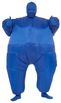 Inf8s Inflatable Blue Morphsuit Adult Costume