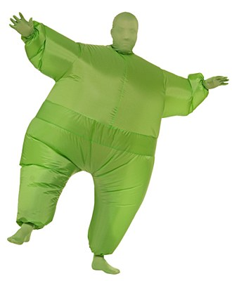 Inf8s Inflatable Green Morphsuit Adult Costume