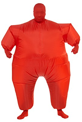 Inf8s Inflatable Red Morphsuit Adult Costume