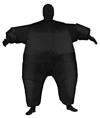 Inf8s Inflatable Black Adult Morphsuit Costume