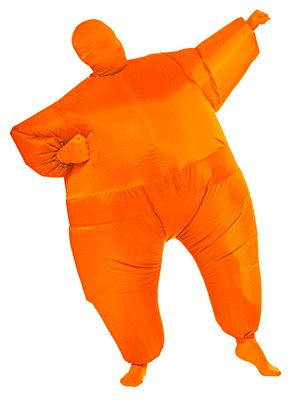Inf8s Inflatable Orange Morphsuit Adult Costume