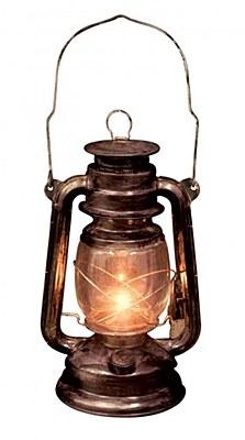 Antique Light Up Lantern Prop