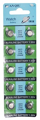 Watch Batteries AG13 - 10 Pack