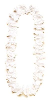 Island Flower Lei - White