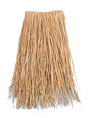 "Natural Raffia 22""x20"" Child Grass Hula Skirt"