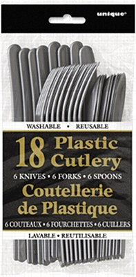 Plastic Cutlery - Silver 18pc Assorted