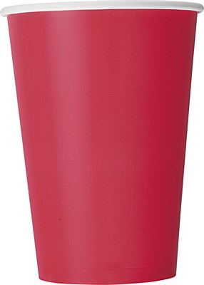 Red 12oz Paper Cups - 10 Count