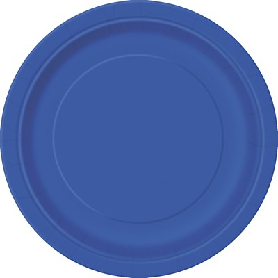 """Blue 9"""" Solid Color Plates - 16 Count"""