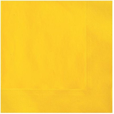 Solid Color Yellow Napkins