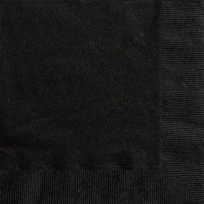 Solid Color Black Napkins