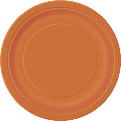 "Orange 9"" Solid Color Plates - 16 Count"