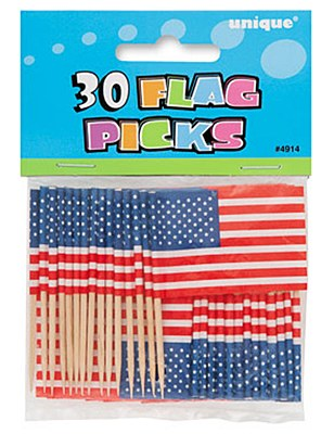 United States Flag Party Toothpicks