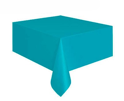"Plastic Table Cover - 54""x108"" - Teal"