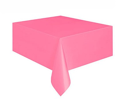"Plastic Table Cover - 54""x108"" - Pink"