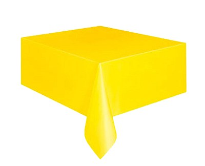 """Plastic Table Cover - 54""""x108"""" - Yellow"""