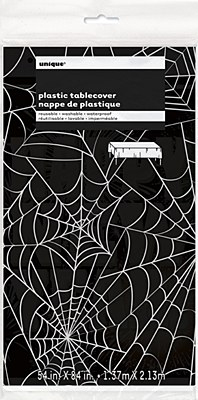 Spider Web Table Cover - Black And White