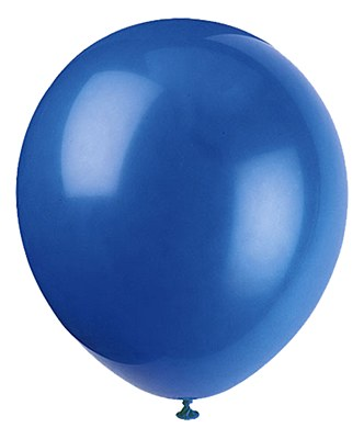 Solid Color Latex Royal Blue Balloon - Single