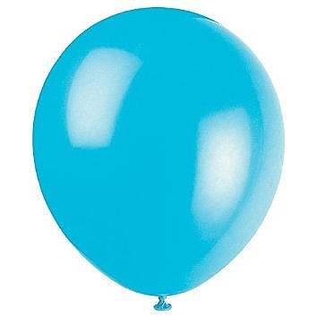 Solid Color Latex Teal Balloon - Single