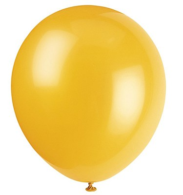 Solid Color Latex Schoolbus Yellow Balloon - Single