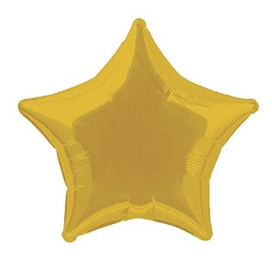 Star Shaped Foil Gold Balloon