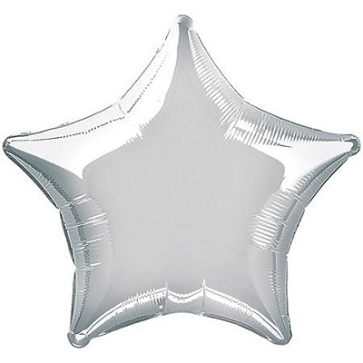 Star Shaped Foil Silver Balloon
