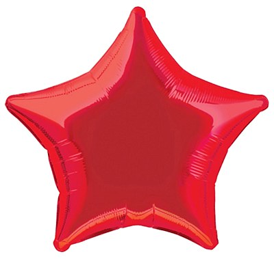 Star Shaped Foil Red Balloon
