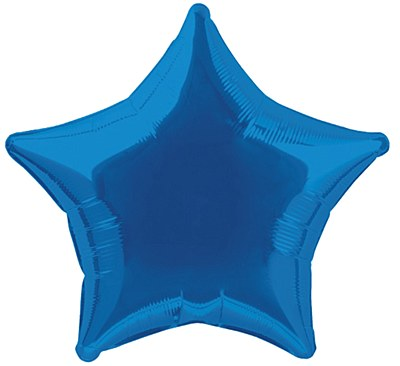 Star Shaped Foil Blue Balloon