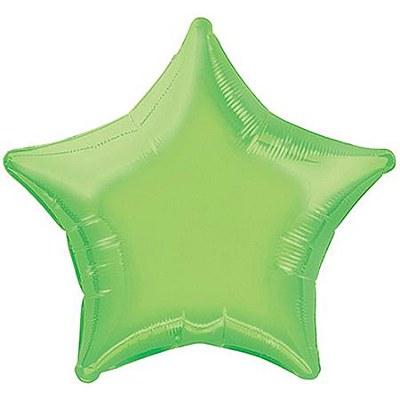 Star Shaped Foil Lime Green Balloon