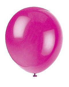 Solid Color Latex Magenta Balloons - 10 Pack