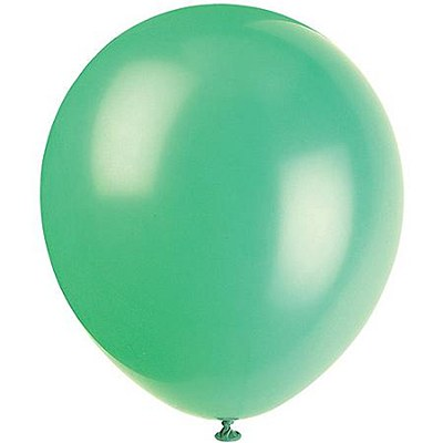 Solid Color Latex Emerald Green Balloons - 10 Pack