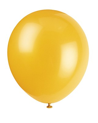 Solid Color Latex Schoolbus Yellow Balloons - 10 Pack