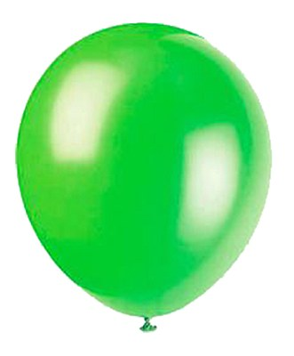 Solid Color Latex Lime Green Balloons - 10 Pack