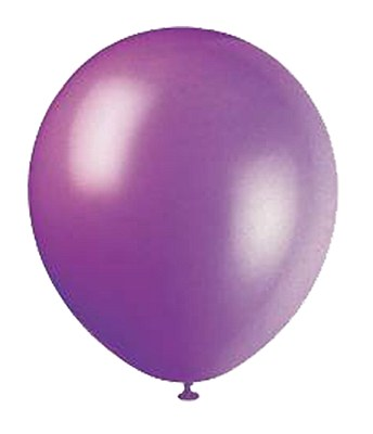 Solid Color Latex Deep Violet Balloons - 10 Pack