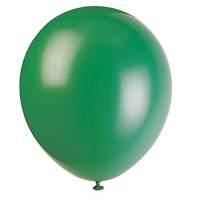 Solid Color Latex Forest Green Balloons - 10 Pack