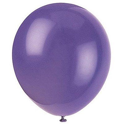 Solid Color Latex Amethyst Purple Balloons - 10 Pack